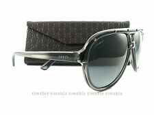 New Gucci Sunglasses GG 3720/S HXTHD Gray Black Authentic