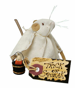 """""""Trick Or Squeak"""" Halloween Tiny 2 1/2"""" Mouse Figure Mice Ornie Ornament"""