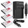 NP-BG1 Battery + Charger For SONY Cyber-Shot FG1 DSC-H20 H9 H3 T100 W90 W80 Cam