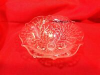 Vintage footed Pressed Glass Candy/Nut Dish Clear