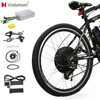 "Electric Bicycle Rear Wheel Kit Conversion E Bike Motor 26"" 48V 1500W Motor Hub"