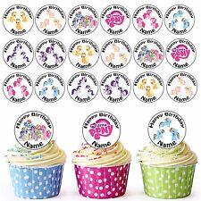 My Little Pony MIX 24 Personalizzati Pre-Tagliati Commestibili Cupcake Topper Festa Ragazze