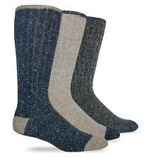 Wise Blend Mens Outdoor Merino Wool Marl Knit Casual Mid Calf Boot Socks 2 Pair