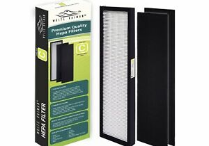 White Kaiman Premium True HEPA Air Filter C  w/Carbon Pre-Filters for Dust  All
