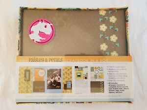 "S.E.I. Paisley & Petals Scrapbook in a Box 8"" X 8"" Album Kit & Keepsake Box VTG"