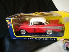 1957 Chevy Bel Air 1/24 Die Cast Collectors Edition Red w/white Top