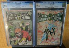 Green Lantern 85 CGC 9.4 & Green Lantern 86 CGC 9.4 Classic Anti-Drug Issues DC
