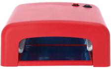 99nails UV Lichthärtungsgerät eckig rot Inklusive Röhren