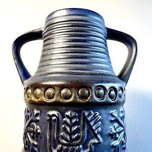 Bay Keramik West German Pottery Mid-Century Design Folk Decor Vase 1970's