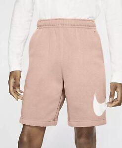 Nike Sportswear Men's Club Fleece Graphic Shorts Arctic Orange Sz XL BV2721-800