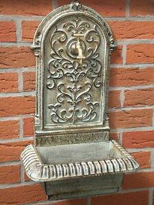 Utilità di Lavelli Fontane Muro 62cm Alta 14kg Ghisa Giardino Attacco per Tubo