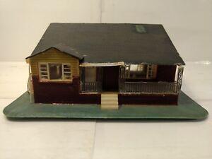 Vintage Scale Model Railroad Split Level Neighborhood Brick House tr730