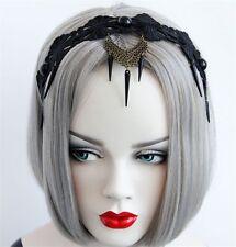 Vintage Lady Balck Lace Headband Tassel Gothic Punk Masquerade Party Headband
