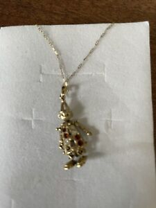 Vintage 9ct Gold Moving Clown Necklace