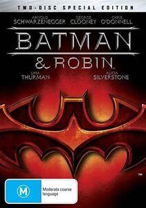 Batman And Robin (DVD, 2005, 2-Disc Set) Region 4 Australia  |George Clooney