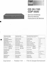 Dual Original Service Manual für CD 20/ 150  CDP 4500