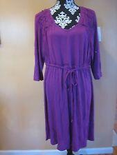 Lane Bryant casual 3/4 sleeve V neck purple dress plus size 18/20.