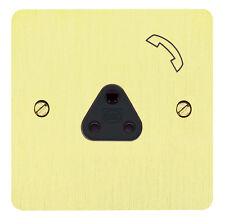 MK Borde 2 Amp Perno Redondo Teléfono enchufe símbolo Latón Pulido K14340 aquí