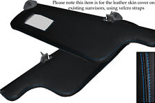 BLUE STITCH FITS SEAT IBIZA MK2 CORDOBA 93-99 2X SUN VISORS LEATHER COVERS ONLY