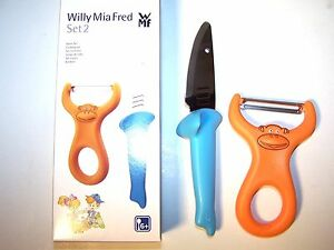 WMF Willy Mia Fred Kids Koch Set Animal 2 tlg Sparschäler + Messer für Kinder