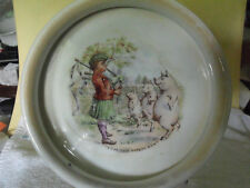 """English Porcelain """"Tom the Piper's Son"""" Child's Bowl, Turn of the Century, 7"""""""