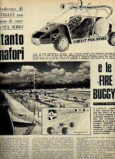 W35 Ritaglio Clipping 1971 Autodromo Castellet fire-buggy vetture antincendio