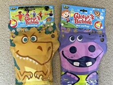 Glove A Bubbles Wave And Play Zing Toys Dinosaur and Rhino 2 Pack New