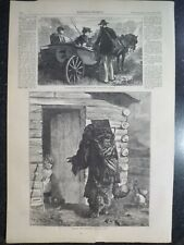 Native American Squaw And Papoose Plains Frontier Harper's Weekly 1873