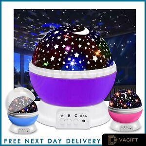 Starry Night Projector Led Light Rotating Star Sky Moon Lamp Kids Bedroom Lamp
