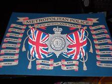 THE METROPOLITAN POLICE,NEW SCOTLAND YARD HONOURS A4 PRINT