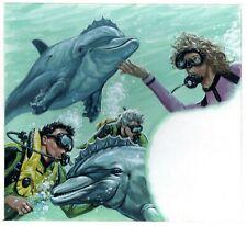 "Bob Larkin Original Painting From ""The Secret Oceans"" 1993 - Ballantine Estate"
