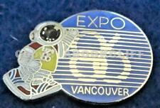 EXPO 86 MASCOT ERNIE WELCOME VANCOUVER CANADA Pin