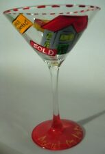 Hand Painted Realtor Martini Glass