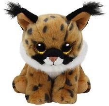 "Ty Larry Lynx Beanie Babies Stuffed Small 6"" Plush Toy (New)"
