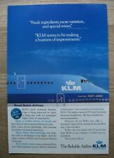 KLM reliable airlines Boeing B747  - VINTAGE ORIGINAL ADVERT POSTER 11 x 7 in