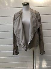 WITCHERY Beige Cotton Jacket - Size 16
