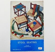 Atlas Leaflet No.35 Stool Seating Atlas Handicrafts Seagrass Vintage