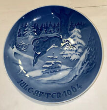 "Bing And Grondahl B&G Christmas Plate ""Fir Tree And The Hare� 1964 Great Piece"