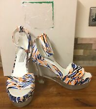 STELLA MCCARTNEY Multicolour Perspex Heeled Sandals Size UK 6/EU 39