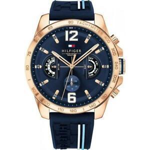 Tommy Hilfiger 1791474 Tachymeter Navy Blue Day Date Men's Decker watch