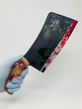 Realistic Handheld Bloody Meat Cleaver Butcher's Knife Movie Prop HALLOWEEN