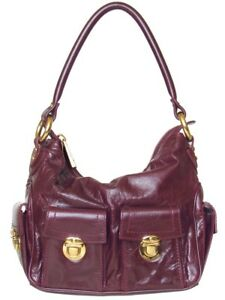 *SALE!* Marc Jacobs Collection Blake Burgundy Leather Shoulder Bag Made in Italy