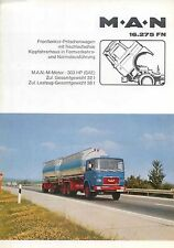 MAN 16.275 FN Forward Control Dropside Truck Original Brochure in German No D 82