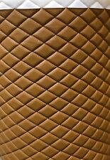 "Vinyl Upholstery Desert diamond Quilted fabric with 3/8"" Foam Backing by yard"