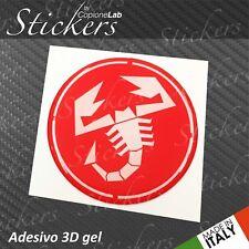 1 Adesivo Stickers Logo ABARTH Fiat RED resinato 3D 70 mm auto