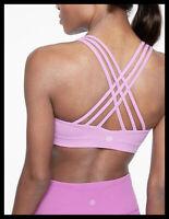 Athleta NWT Women's D-DD Hyper Focused Bra Size Large Color Violet Blush