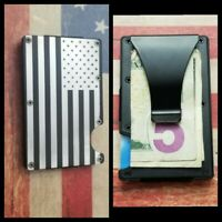 American flag RFID tactical wallet