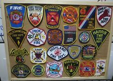 INDIANA FIRE/RESCUE DEPARTMENT PATCHES! SET ONE! LOT OF 23! See Item Description