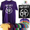 Army Tshirt Military Combat  Regiment Jeep Star Airsoft British T Shirt Gym