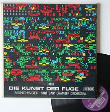 "Vinyle 33T Munchinger : Stuttgart chamber orchestra  ""Bach - Die kunst der fuge"""
